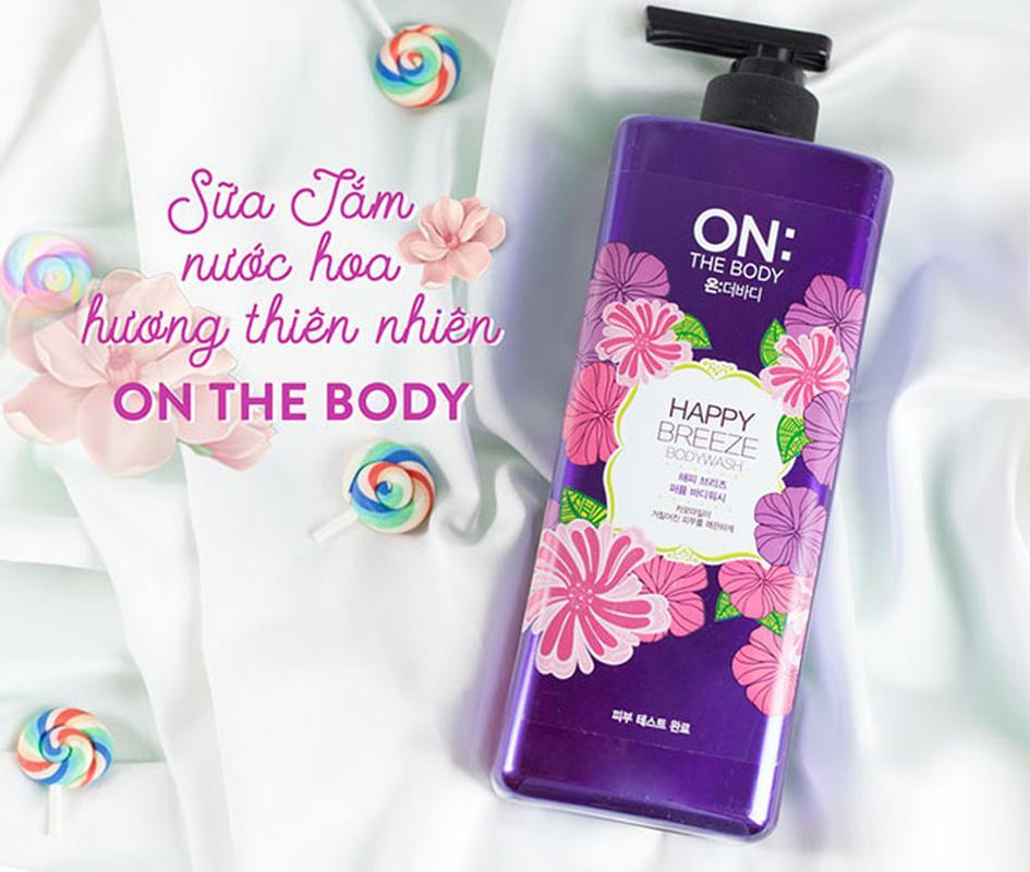 Sữa tắm On the Body tinh chất hương hoa màu tím mẫu cũ