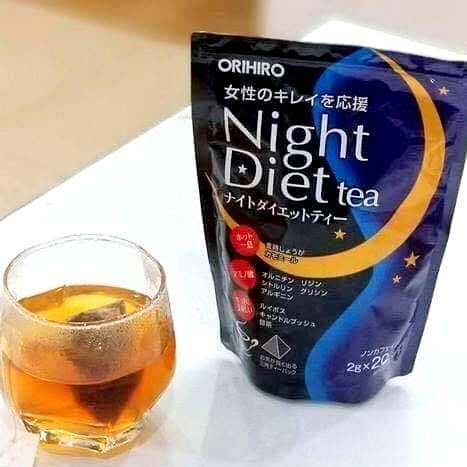 Trà giảm cân Orihio ban đêm Nhật Bản hỗ trợ bảo vệ sức khỏe và duy trì dáng vóc