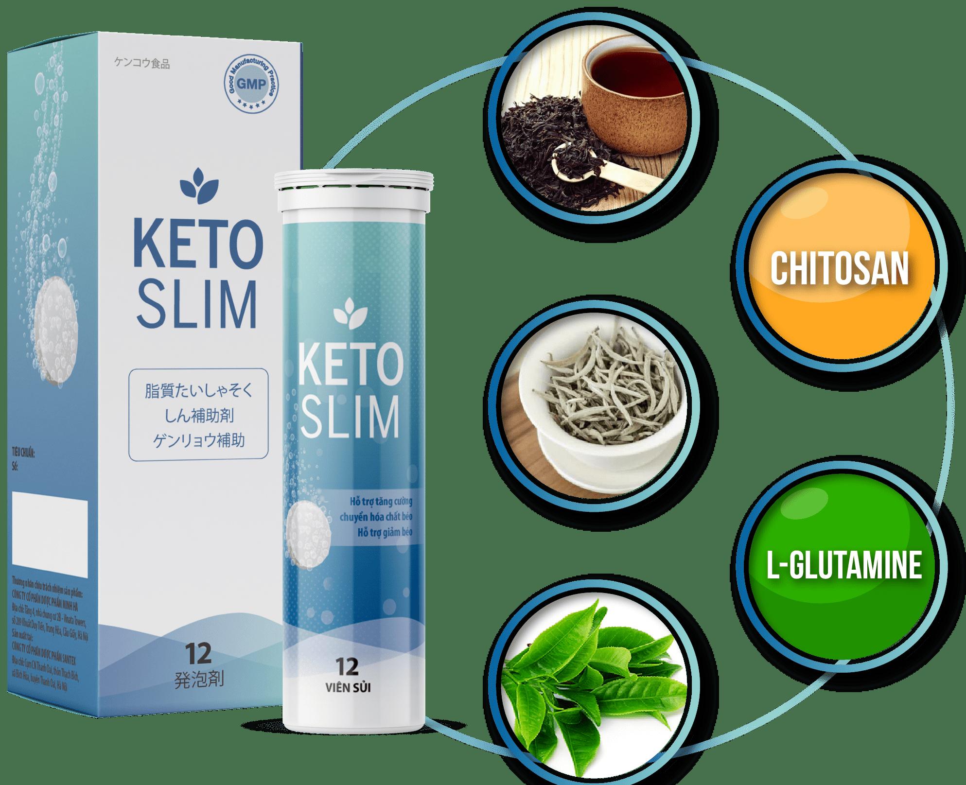 Viên sủi giảm cân Keto Slim Nhật Bản hỗ trợ cải thiện và duy trì vóc dáng