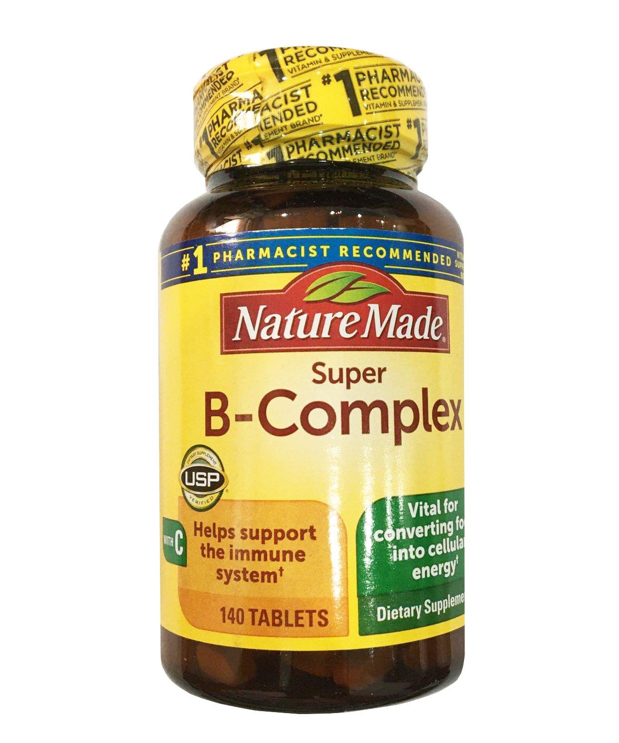 Viên uống Vitamin B Complex Nature Made mẫu mới