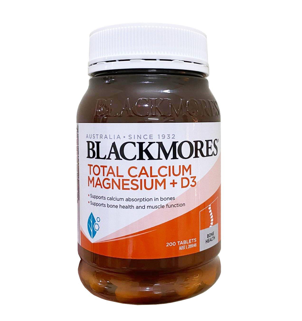 Viên uống bổ sung Calcium & Magnesium + D3 Blackmores hộp 200 viên mẫu mới