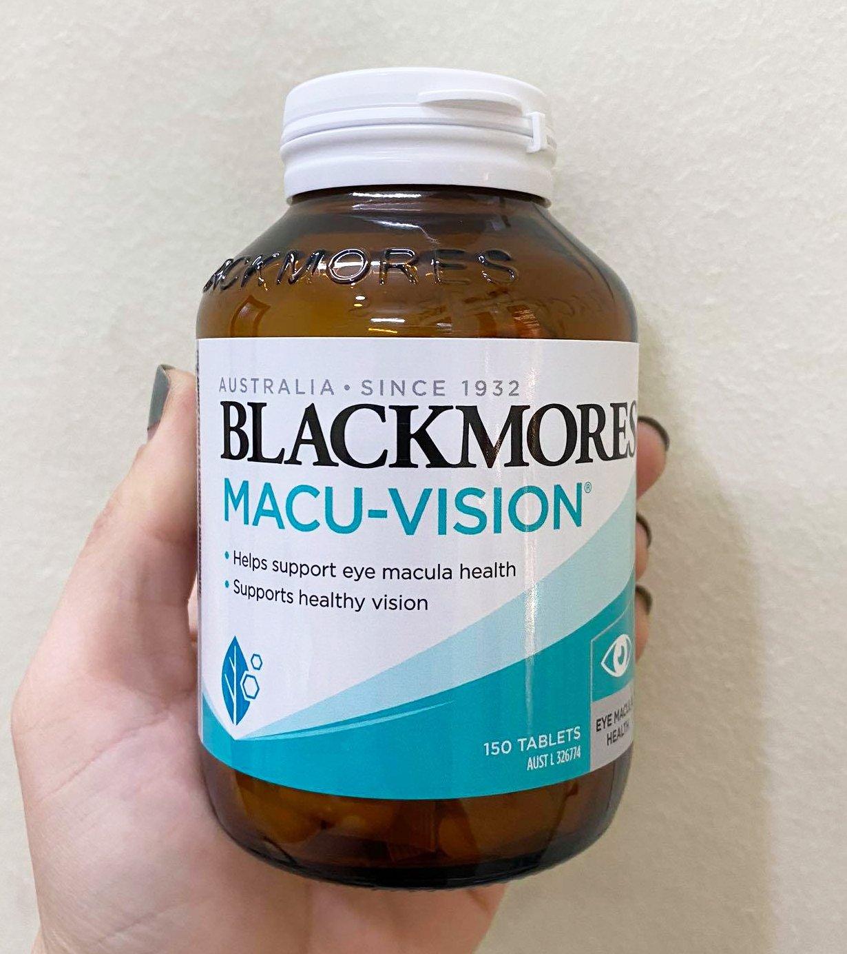 Viên uống Blackmores Macu-Vision chính hãng từ Úc loại 150 viên mẫu mới