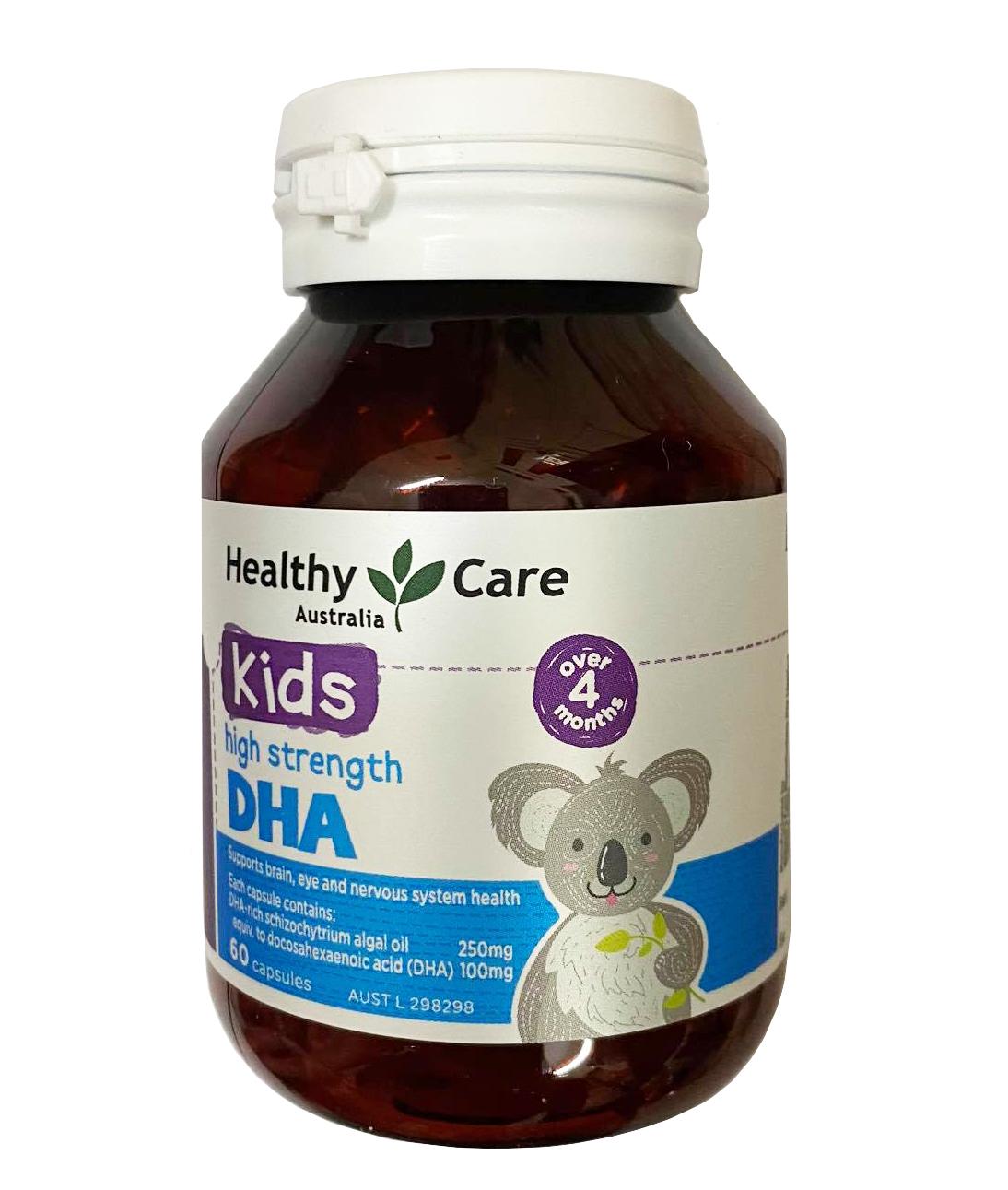 Viên bổ sung DHA Healthy Care cho trẻ từ 4 tháng tuổi mẫu mới