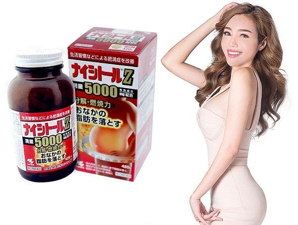 Viên uống giảm mỡ bụng Kobayashi Naishituro Z5000 của Nhật cho cả nam và nữ