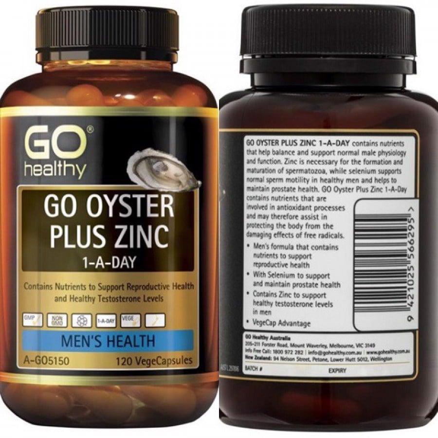 Viên uống Go Healthy Go Oyster Plus Zinc hỗ trợ tăng cường sinh lý nam