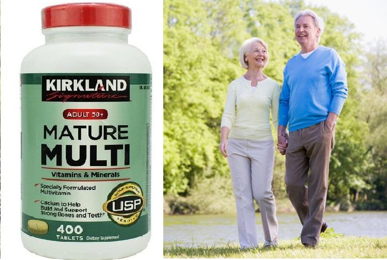 Viên uống Kirkland Mature Multi tăng cường sức khỏe tuổi 50