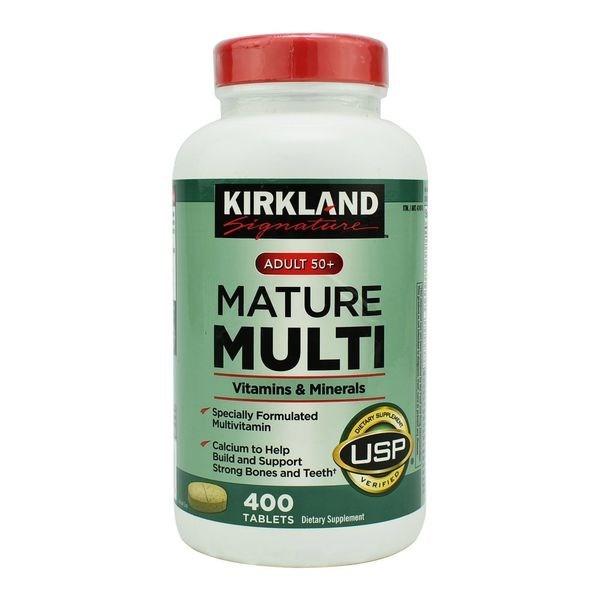 Viên uống Kirkland Mature Multi Mỹ tăng cường bổ sung vitamin