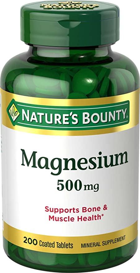 Viên uống Nature's Bounty Magnesium 500mg chính hãng