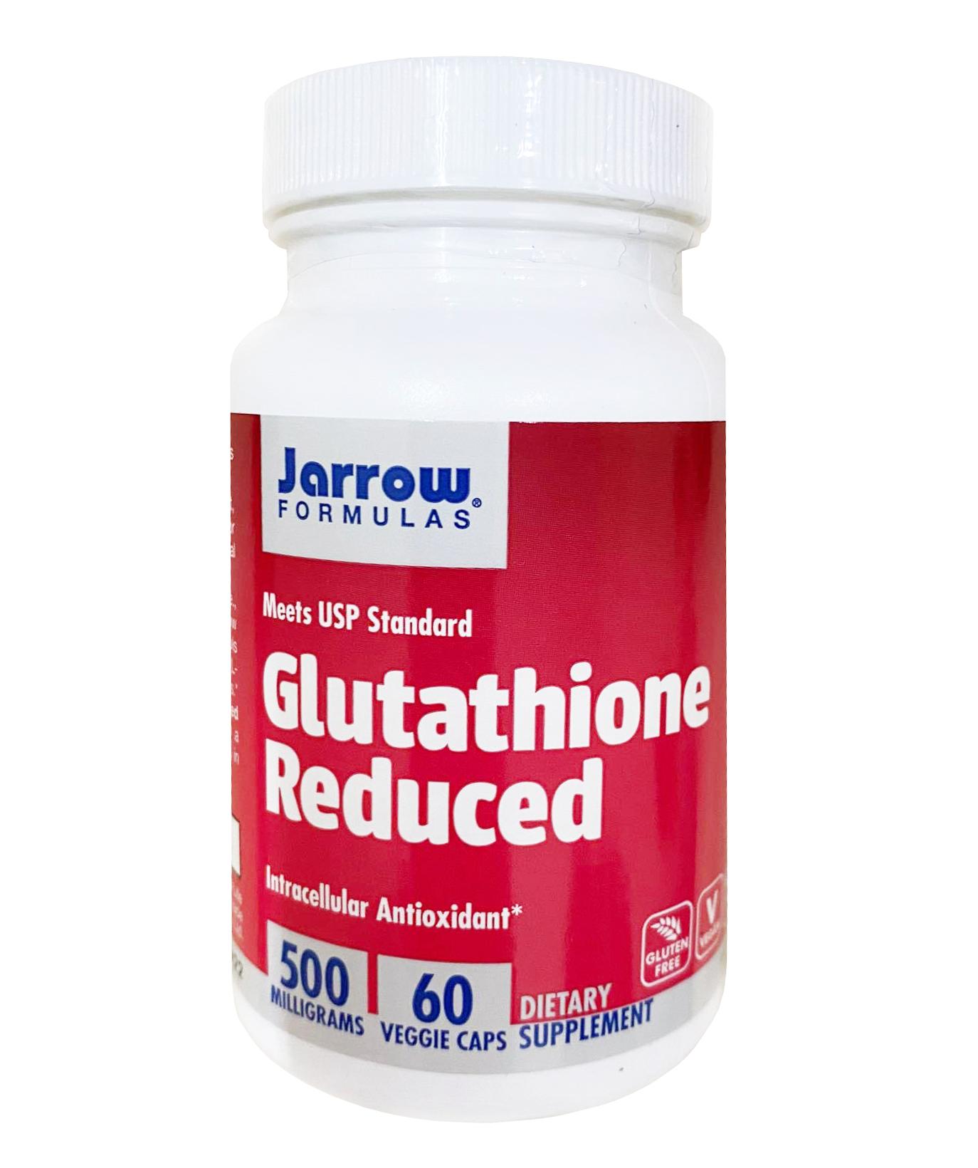 Viên uống hỗ trợ trắng da Jarrow Glutathione 500 mg (mẫu mới)