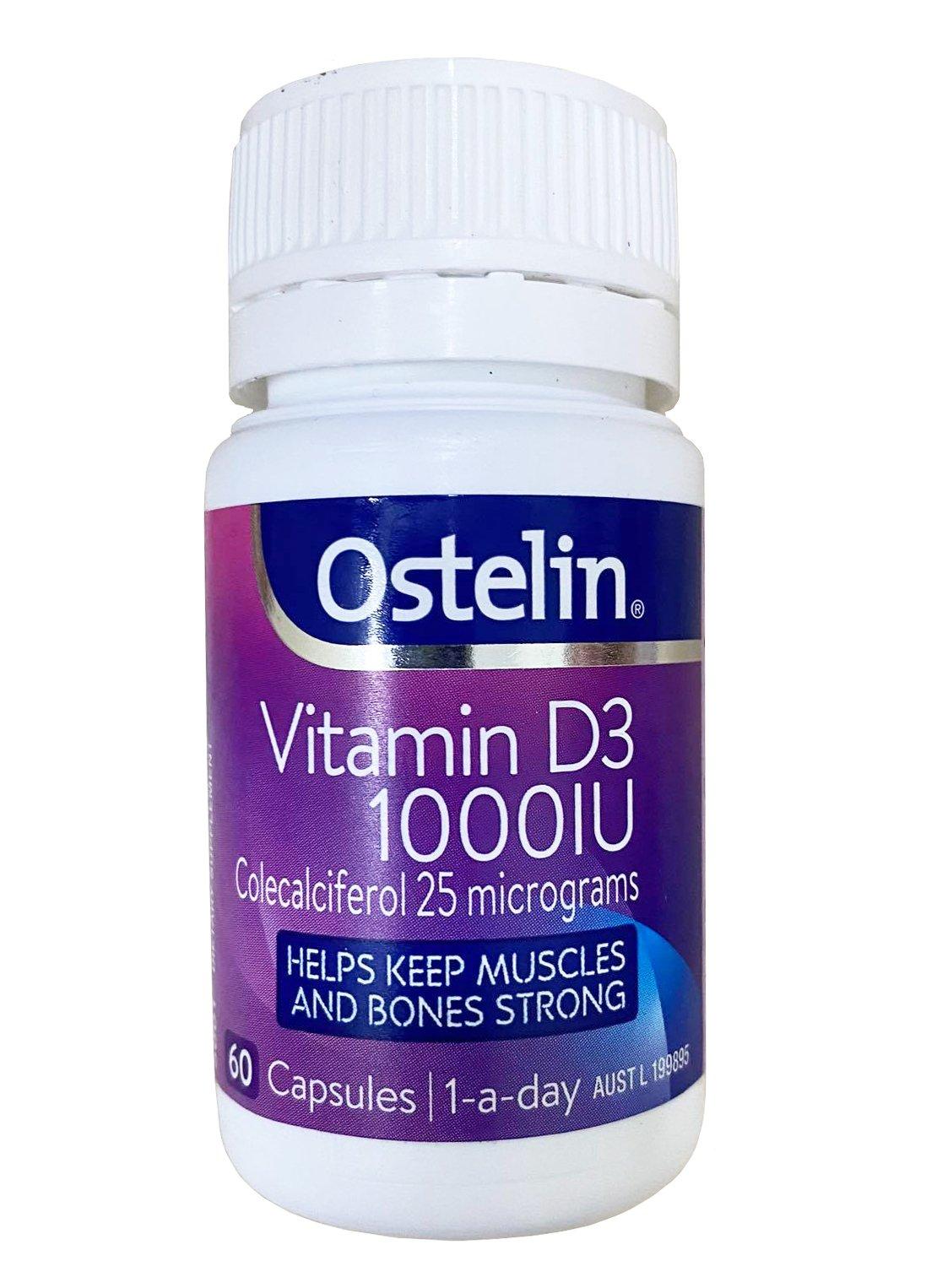 Viên uống Ostelin Vitamin D3 1000IU 60 viên