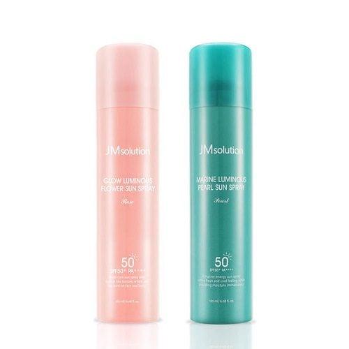 Xịt Chống Nắng JM Solution spf50+ dưỡng chất hoa hồng và ngọc trai