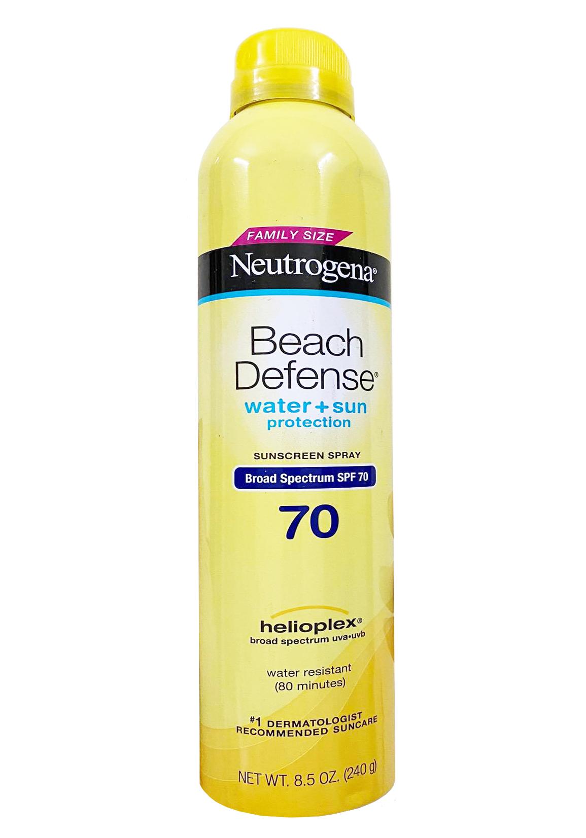 Xịt chống nắng Neutrogena Beach Defense SPF 70 (240g)