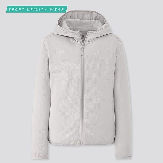 Áo chống nắng Uniqlo AiRism chất thun lạnh màu 02 Light Gray