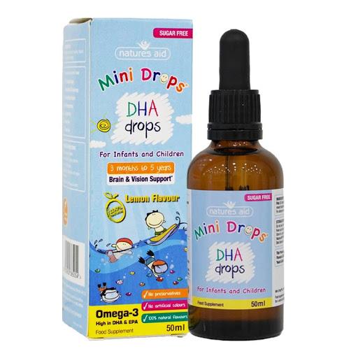 DHA Drops - DHA dạng giọt cho bé từ 3 tháng tới 5 tuổi mẫu cũ