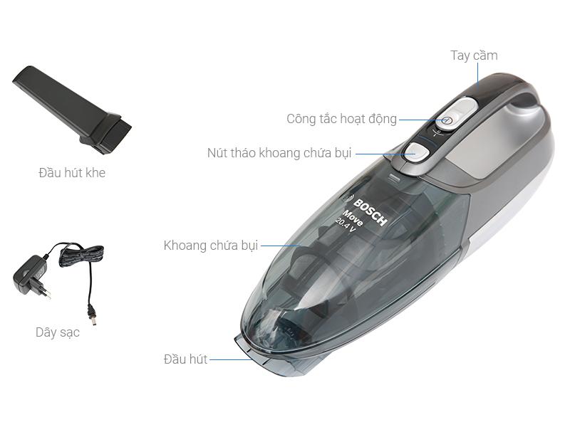 Cấu tạo máy hút bụi cầm tay Bosch BHN20110