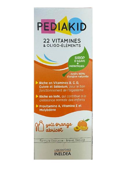 Hướng dẫn cách dùng pediakid 22 vitamin mẫu mới