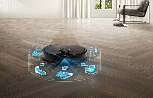 Robot Ecovacs Deebot T8 Aivi hỗ trợ camera theo dõi không gian rộng