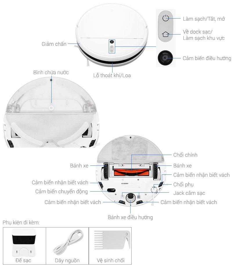 Cấu tạo robot hút bụi Xiaomi Vacuum Mop SKV4093GL