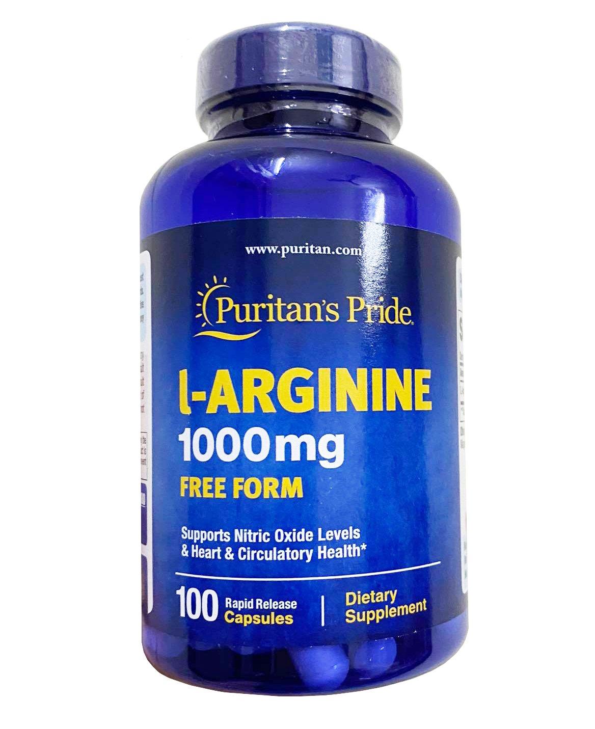 Viên giải độc gan Puritan's Pride L-Arginine 1000mg của Mỹ