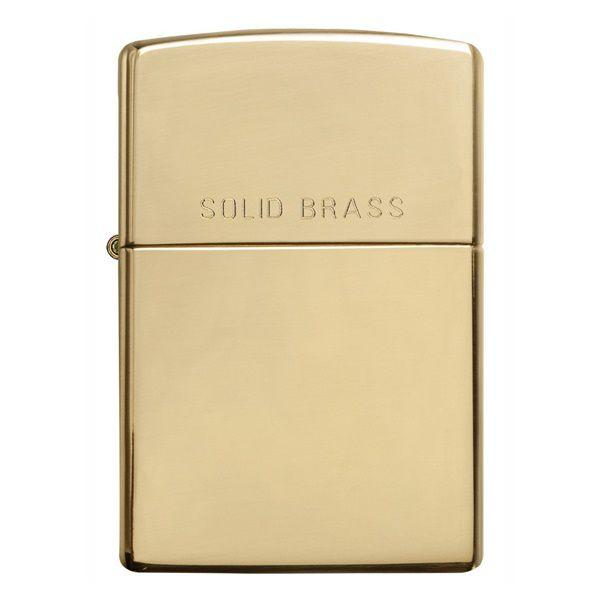 Zippo High Polish Solid Brass 254 chuẩn hàng USA