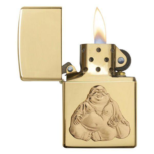 Zippo Laughing Buddha lửa khỏe, mạnh