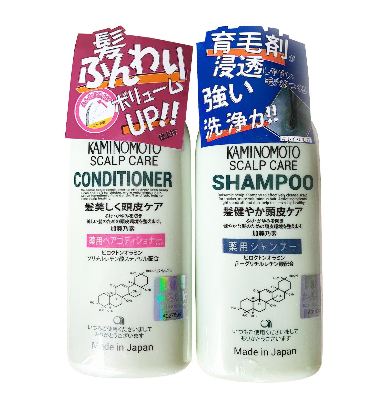Bộ dầu gội và dầu xả mọc tóc Kaminomoto Medicated Shampoo Nhật Bản
