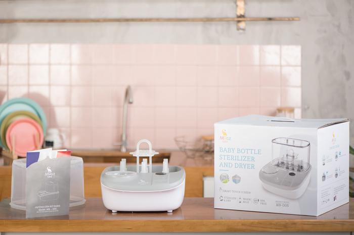 Bộ máy tiệt trùng bình sữa tiêu chuẩn, hỗ trợ đa chức năng