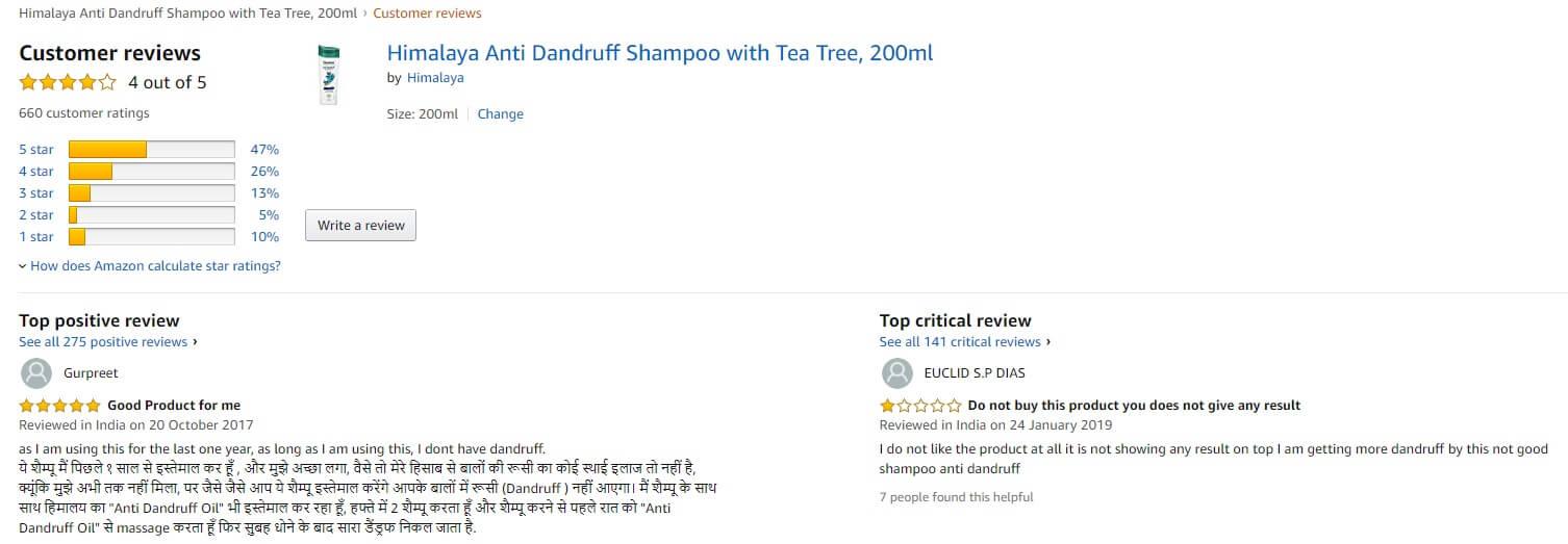 Phản hồi từ phía khách hàng sử dụng dầu gội Himalaya Anti-dandruff shampoo 3