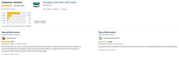 Phản hồi từ phía khách hàng sử dụng kem ủ tóc Himalaya Anti Hair Fall Cream 3