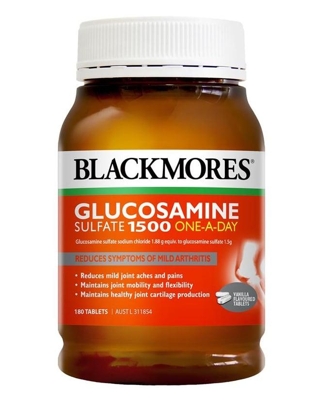 Blackmores Glucosamine Sulfate 1500mg 180 viên mẫu cũ