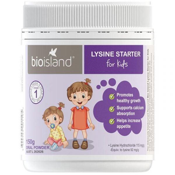 Bio Island Lysine Bột Starter For Kids hỗ trơ tăng chiều cao cho trẻ