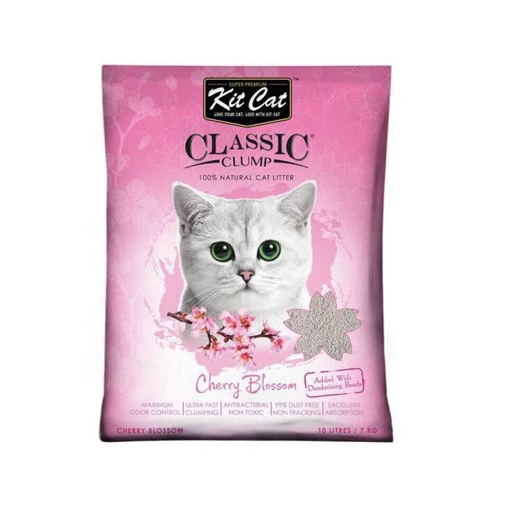 Cát thủy tinh vệ sinh Kitcat cho mèo Anh đào – màu hồng.
