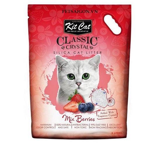 Cát thủy tinh vệ sinh Kitcat cho mèo dâu tây