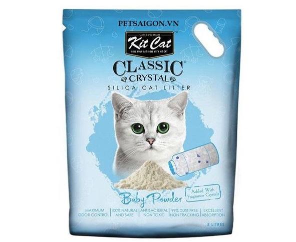 Cát thủy tinh vệ sinh Kitcat cho mèo phấn thơm – màu xanh dương.