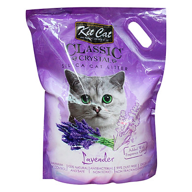 Cát thủy tinh vệ sinh Kitcat cho mèo Oải hương – màu tím.