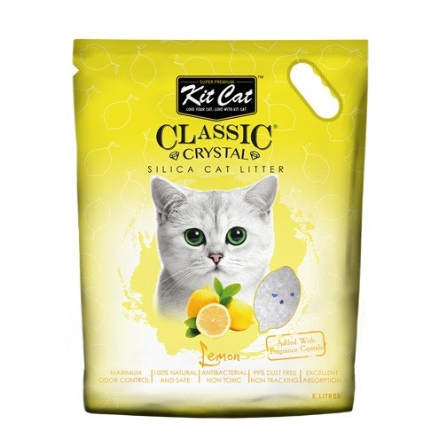 Cát thủy tinh vệ sinh Kitcat cho mèo hương chanh - màu vàng