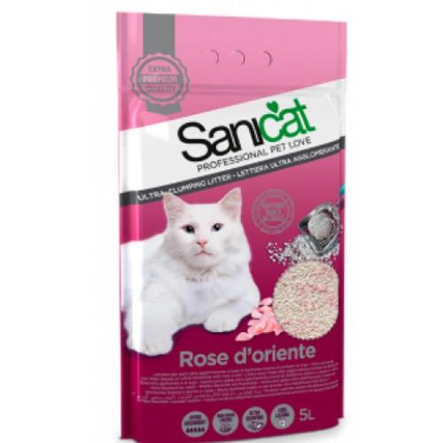 Cát vệ sinh hương hoa hồng Sanicat Bentonite cho mèo