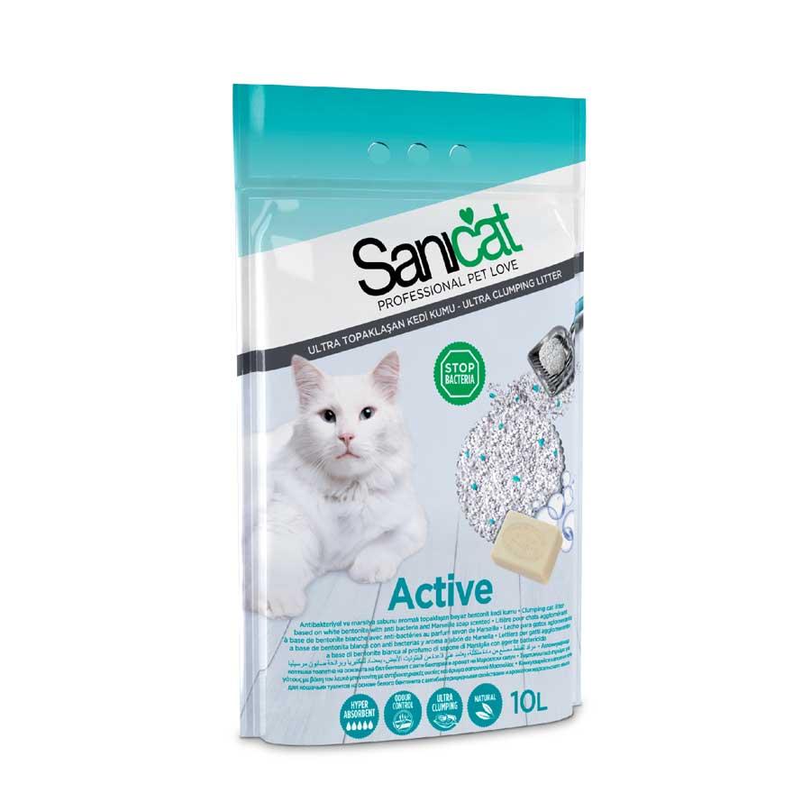 Cát vệ sinh Sanicat Bentonite Active 10l
