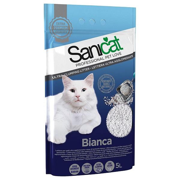 Cát vệ sinh hạt trắng Sanicat Bentonite Blanca