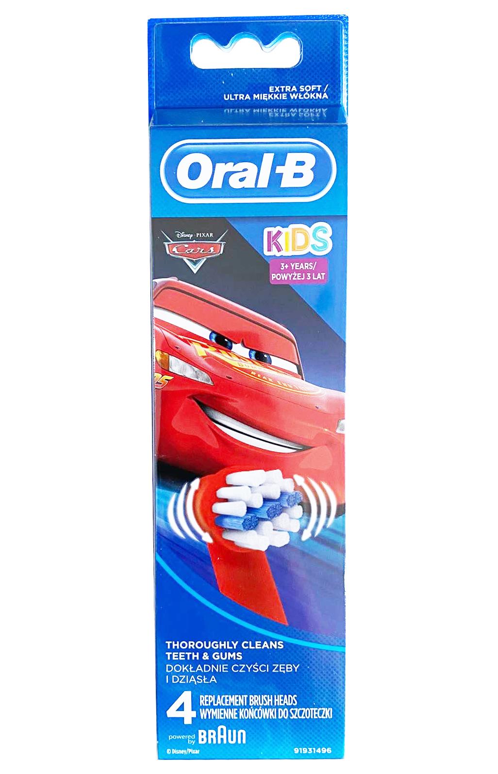 Đầu bàn chải điện Oral B Stages Power dành cho bé trai 4 đầu