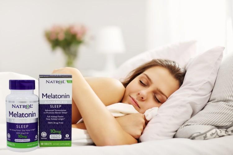Natrol Sleep 10mg - cải thiện chất lượng giấc ngủ hiệu quả