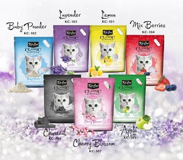 Cát vệ sinh Kitcat hạt thủy tinh cho mèo nhiều mùi hương