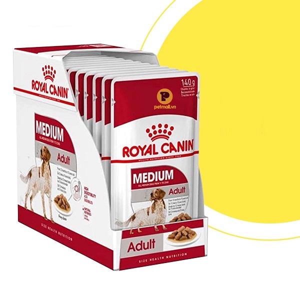 Pate Royal Canin Medium Adult cho chó dạng gói 140g