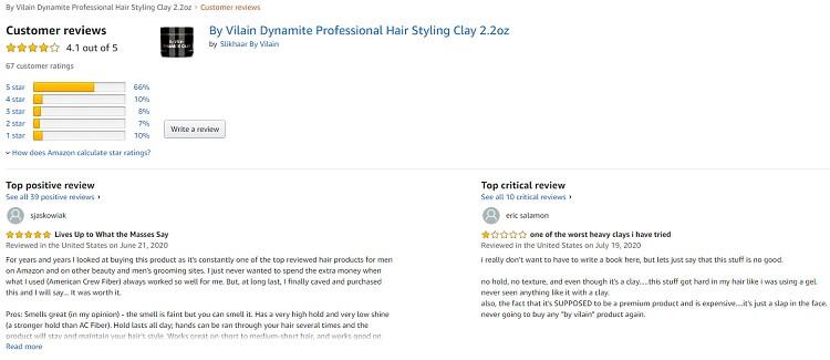 Phản hồi từ phía khách hàng sử dụng sáp vuốt tóc By Vilain Dynamite Clay 2