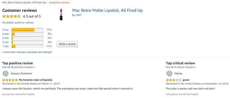 Phản hồi từ phía khách hàng sử dụng son Mac All Fired Up 2