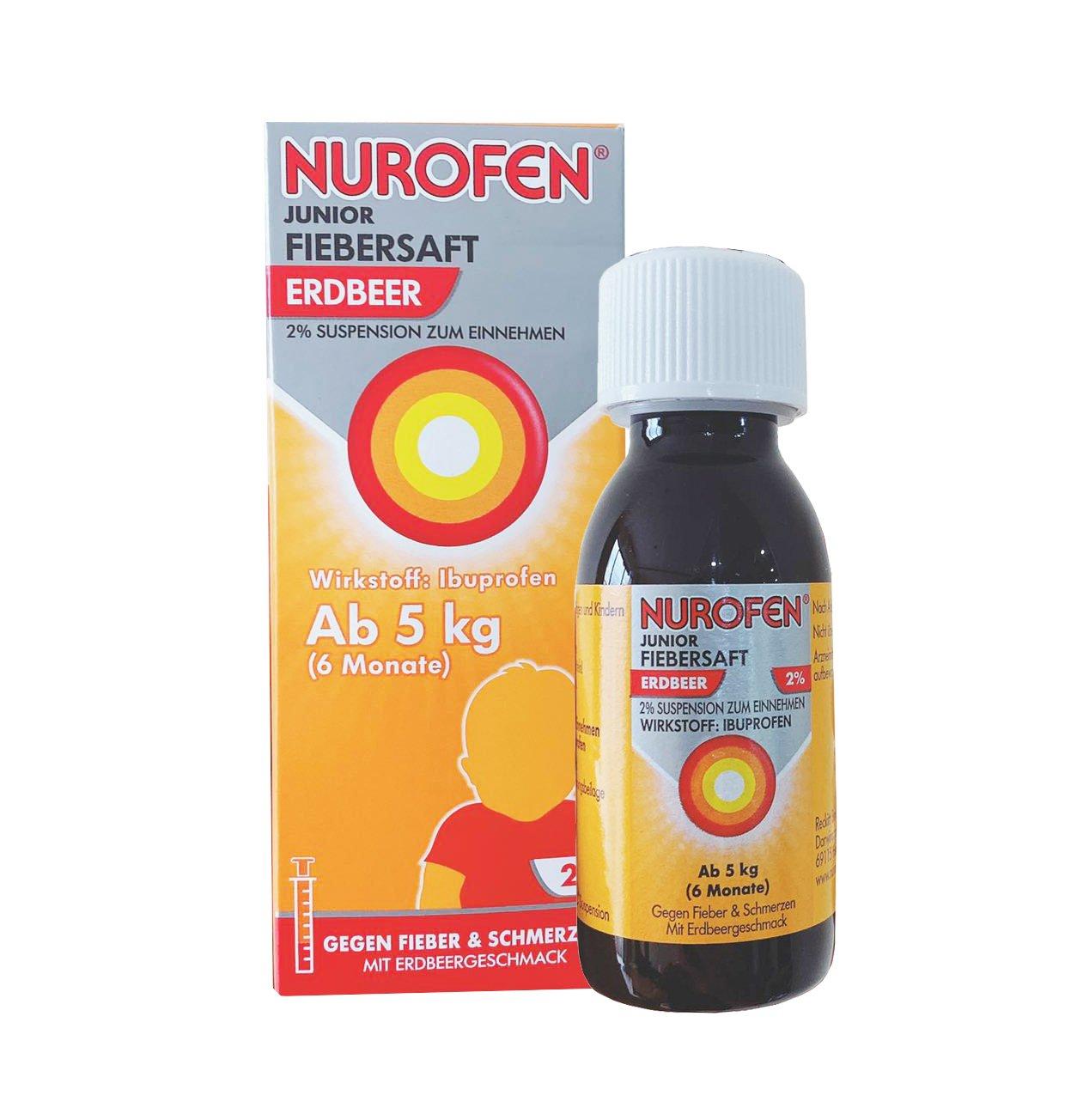 Siro hạ sốt Nurofen 2% của Đức cho trẻ 6 tháng tuổi trở lên chính hãng