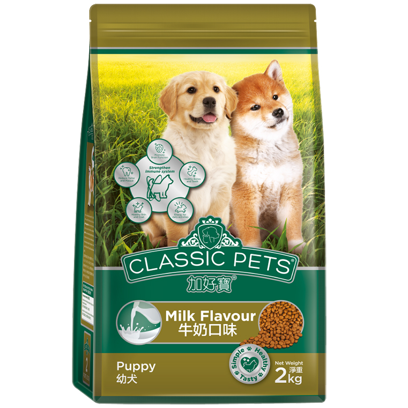 Thức ăn cho chó Classic Pets Puppy Food Milk Flavour túi 2kg