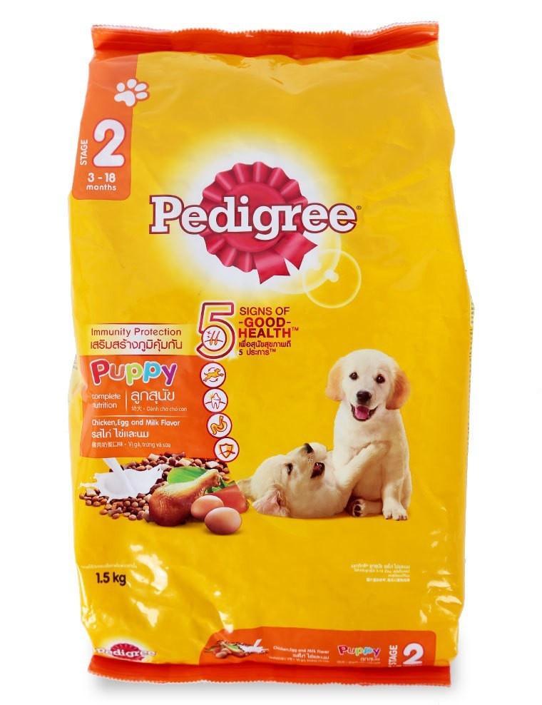 Thức ăn cho chó con Pedigree vị gà, trứng và sữa