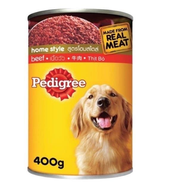 Thức ăn pate Pedigree vị bò cho chó lớn lon 400g