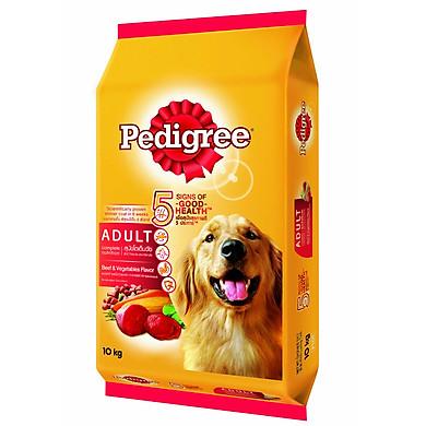 Bao 10kg thức ăn cho chó trưởng thành vị bò và rau